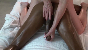Facesitting together with young cougar wearing high heels HD