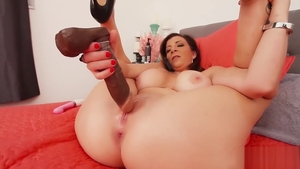 Nailed rough along with big ass brunette Sara Jay