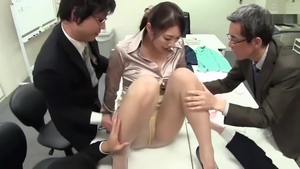 Blowjob in office large tits japanese