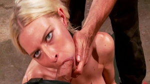 Tied up accompanied by slut Riley Evans