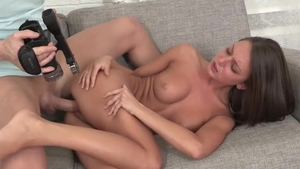 Brunette Foxy Di cumshot at the audition