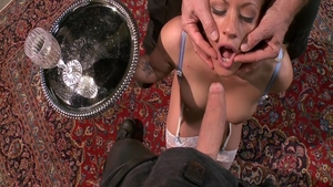 Brutal deepthroat escorted by blonde Holly Heart