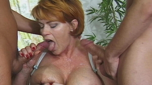 Annabel Massina beside Conny Dachs receiving facial