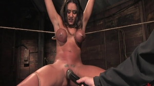 Big tits babe Charley Chase lusts roped