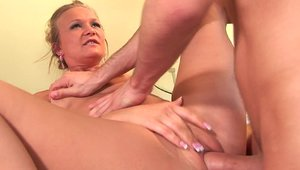 Hard slamming together with Katie Morgan and James Deen