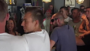 Very small tits twins nudist group sex in the bar