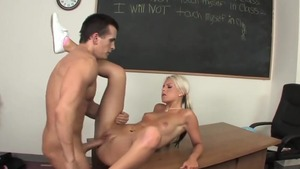 Handjob accompanied by girl Barbie Addison