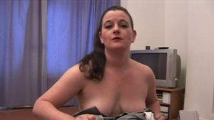 Plump british brunette goes in for rough nailing