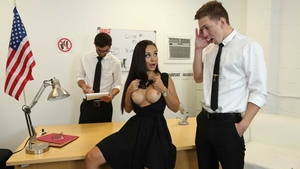 Russian Crystal Rush in a dress missionary sex in office