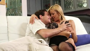 Very sexy caucasian blonde hair Alexis Fawx sucking dick in HD