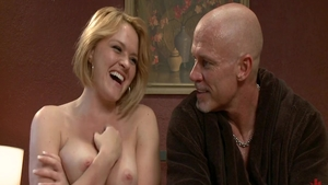 Rough gaping accompanied by large tits blonde hair Krissy Lynn