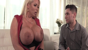 Stepmom Alura Jenson shows big boobs