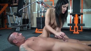Loud sex in company with mistress