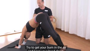 George Uhl and Ana Rose fitness in the gym