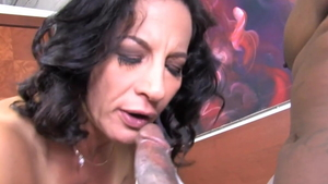 Rough nailing in company with MILF Melissa Monet