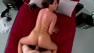 Amazing brunette Lisa Sparkle fucking in the ass