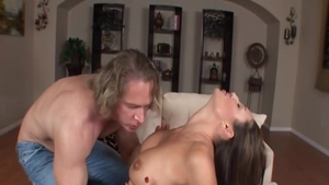Horny babe Sky Taylor gonzo doggy getting a facial