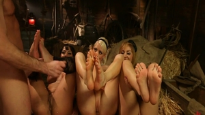 Very hot girl rough group sex