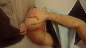 Hard nailining accompanied by trimmed pussy girl