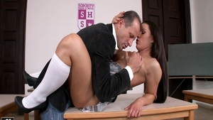 Super sexy schoolgirl Athina Love craving nailing in HD