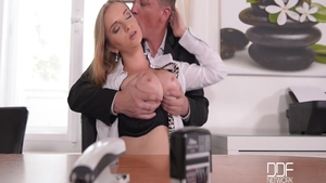 Steve Holmes having sex with very tasty Suzie Moss in office