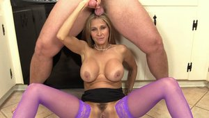 Horny latina stepmom Hot Wife Rio finds pleasure in taboo sex