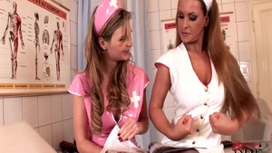 Tarra White wearing uniform together with Dorothy Black