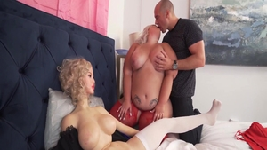 Blonde haired Tiffany Star dick sucking