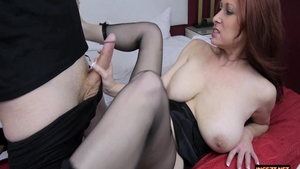 Chubby mature Tiffany Mynx cock sucking masturbation