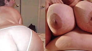 Big boobs granny helps with hard sex in HD