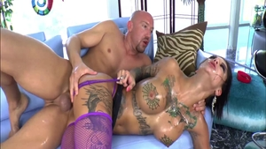 Large tits Bonnie Rotten squirting ass fuck