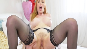 Sexy Lauren Phillips nylon fucking in the ass