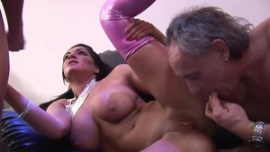 Hard pounding in the company of aged twins