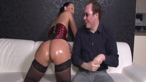 Hard slamming in company with sexy brunette Kristina Rose