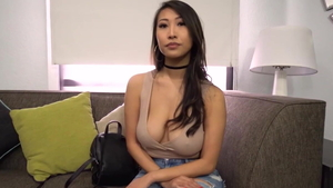 Asian tits fucking at the casting in HD