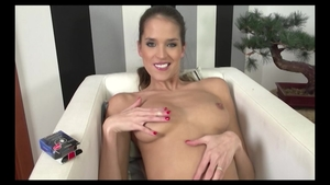 Sex with toys together with shaved european babe Silvie Deluxe