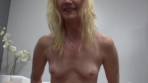 Small tits blonde dick sucking at castings