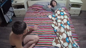 Threesome on live cam russian