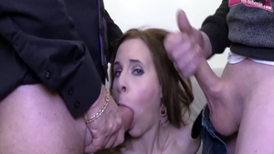 Threesome at the castings skinny german HD