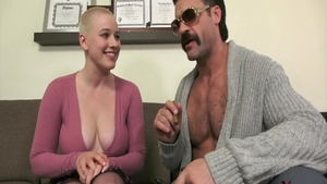 Bald Riley Nixon fucked in the ass blowjobs