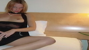 Small boobs german blonde babe sucking dick in HD