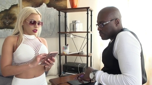 Luna Star sucking big black cock & gets a good fucking