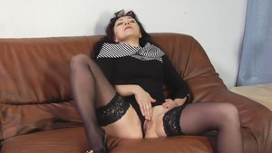 Cum on face russian in stockings