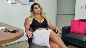 Busty cougar tits fucking in office
