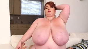Real sex along with big boobs BBW Lexxxi Luxe