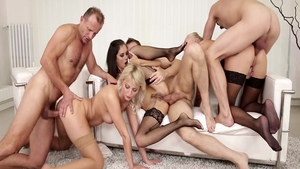 Orgy together with horny Kayla Green plus Katy Rose