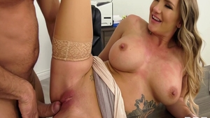 Plowing hard escorted by horny american MILF Cali Carter