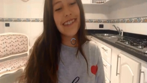 Too cute teen chick feels up to softcore sex live on cam