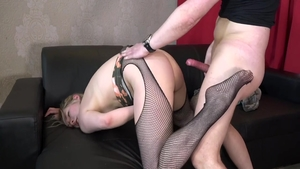 Dutch babe has a thing for fucking in sexy stockings in HD
