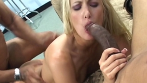 Blonde hair Angel Long helps with fingering